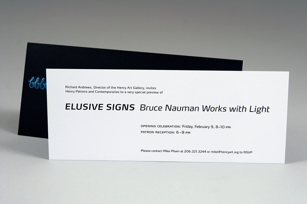 Elusive Signs: Bruce Nauman Works with Light at the Henry Art ...