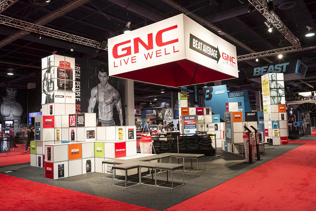 Exhibition Booth Las Vegas : Gnc tradeshow booth las vegas portfolio